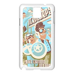 Nerdcorps Samsung Galaxy Note 3 N9005 Case (White)