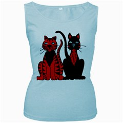 Cool Cats Women s Tank Top (Baby Blue)