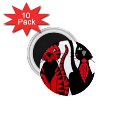 Cool Cats 1.75  Button Magnet (10 pack)