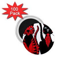 Cool Cats 1 75  Button Magnet (100 Pack)