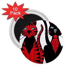 Cool Cats 2 25  Button Magnet (10 Pack)