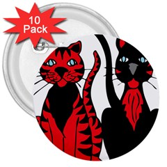 Cool Cats 3  Button (10 pack)