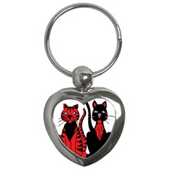 Cool Cats Key Chain (Heart)