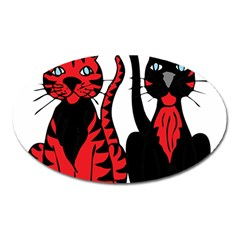 Cool Cats Magnet (oval)