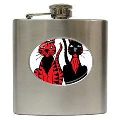 Cool Cats Hip Flask