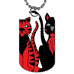 Cool Cats Dog Tag (Two-sided)