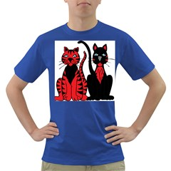 Cool Cats Men s T-shirt (Colored)