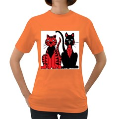 Cool Cats Women s T-shirt (Colored)