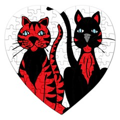 Cool Cats Jigsaw Puzzle (Heart)