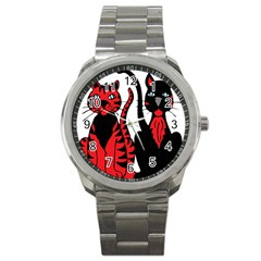 Cool Cats Sport Metal Watch