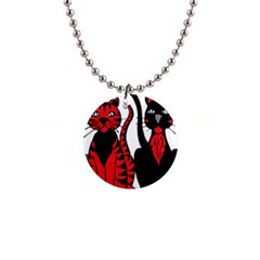 Cool Cats Button Necklace