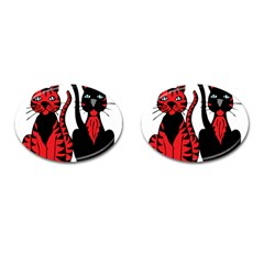 Cool Cats Cufflinks (Oval)