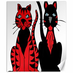 Cool Cats Canvas 8  X 10  (unframed)