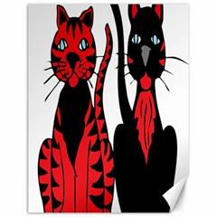 Cool Cats Canvas 12  x 16  (Unframed)