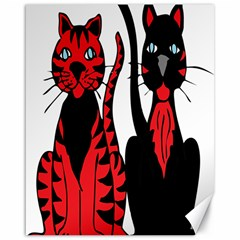 Cool Cats Canvas 16  x 20  (Unframed)