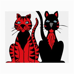 Cool Cats Glasses Cloth (Small, Two Sided)