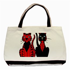 Cool Cats Twin-sided Black Tote Bag
