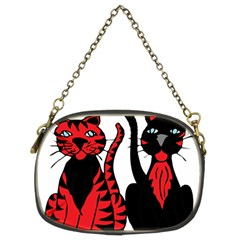 Cool Cats Chain Purse (two Sided)
