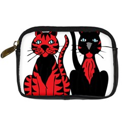 Cool Cats Digital Camera Leather Case