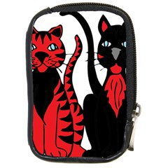 Cool Cats Compact Camera Leather Case