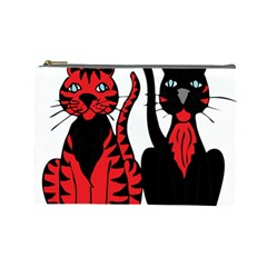 Cool Cats Cosmetic Bag (Large)