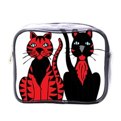 Cool Cats Mini Travel Toiletry Bag (one Side)