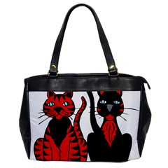 Cool Cats Oversize Office Handbag (one Side)