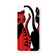 Cool Cats Apple iPhone 4 Case (White)