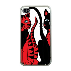 Cool Cats Apple iPhone 4 Case (Clear)