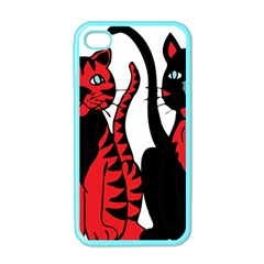 Cool Cats Apple Iphone 4 Case (color)