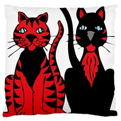 Cool Cats Large Cushion Case (two Sided)