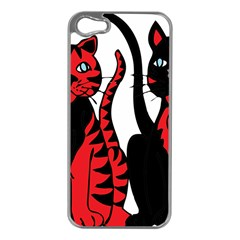 Cool Cats Apple Iphone 5 Case (silver)