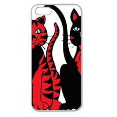 Cool Cats Apple Seamless Iphone 5 Case (clear)