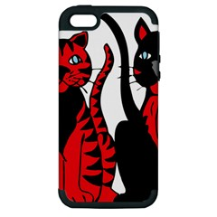 Cool Cats Apple Iphone 5 Hardshell Case (pc+silicone)