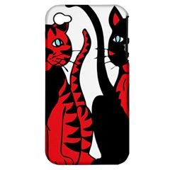 Cool Cats Apple Iphone 4/4s Hardshell Case (pc+silicone)