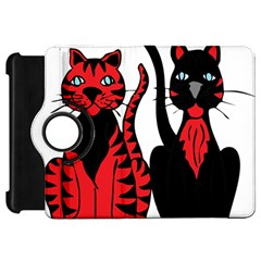 Cool Cats Kindle Fire HD 7  (1st Gen) Flip 360 Case