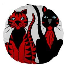 Cool Cats 18  Premium Round Cushion