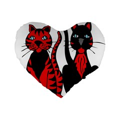 Cool Cats 16  Premium Heart Shape Cushion