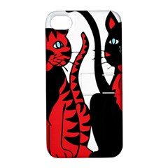 Cool Cats Apple Iphone 4/4s Hardshell Case With Stand