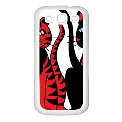 Cool Cats Samsung Galaxy S3 Back Case (White)