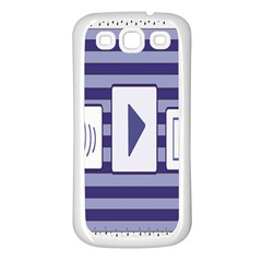 Music time Samsung Galaxy S3 Back Case (White)