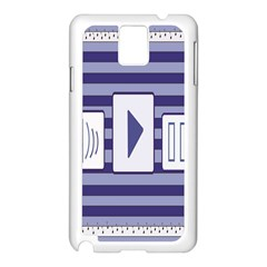 Music time Samsung Galaxy Note 3 N9005 Case (White)