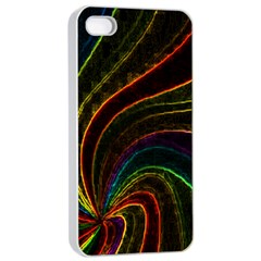 Neon Twist Apple Iphone 4/4s Seamless Case (white)