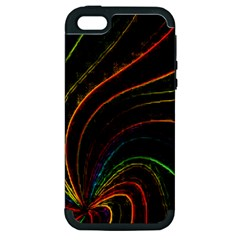Neon Twist Apple iPhone 5 Hardshell Case (PC+Silicone)