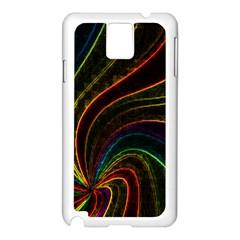 Neon Twist Samsung Galaxy Note 3 N9005 Case (White)