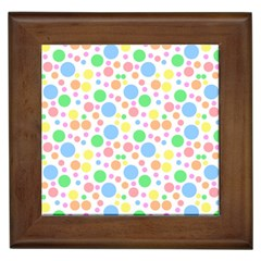 Pastel Bubbles Framed Ceramic Tile
