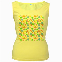 Pastel Bubbles Women s Tank Top (Yellow)