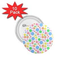 Pastel Bubbles 1 75  Button (10 Pack)