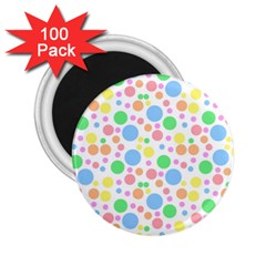 Pastel Bubbles 2 25  Button Magnet (100 Pack)