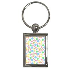 Pastel Bubbles Key Chain (Rectangle)